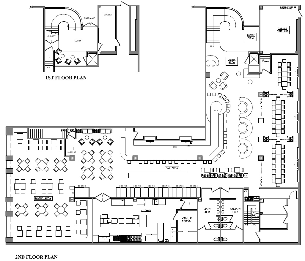 Desmond s steakhouse goldman design group Rest house plan